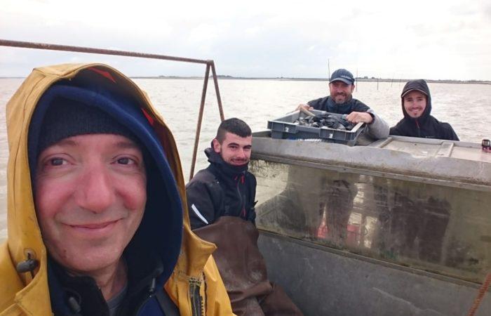 al lavoro, in mare