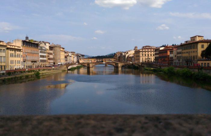 Vista dell'arno dal Ponte alla Carraia