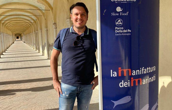 eccomi all'Educational tour alle valli di Comacchio organizzato da visit Ferrara