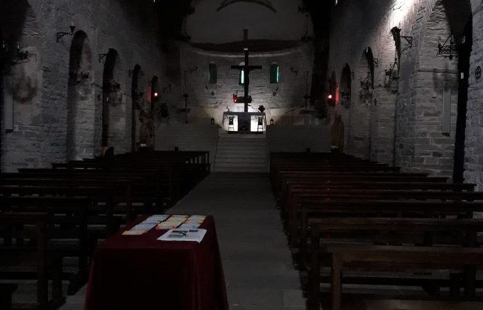 Interno abbazia di Lemoli