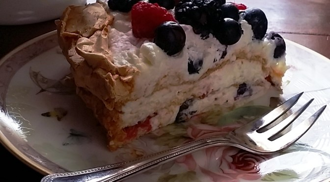 Summer Berry Layered Pavlova