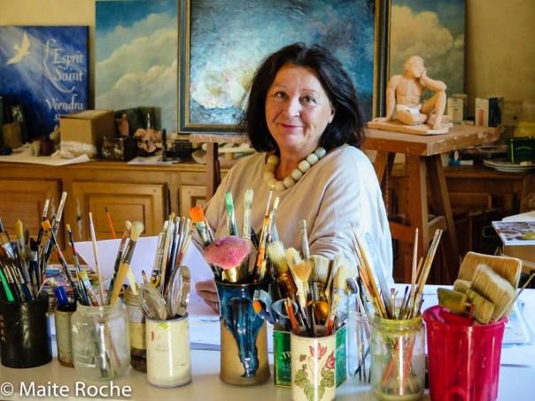 Dans l'atelier, Maïte Roche, 2016