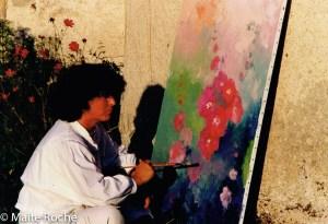 Impressions au soleil couchant, Maïte Roche, 1990