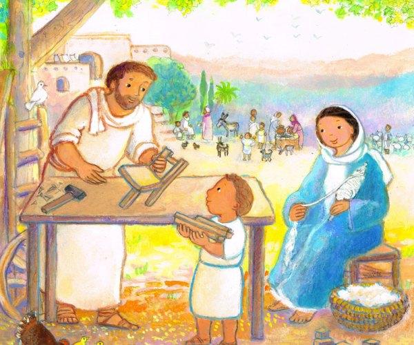 Enfance de Jésus Détail, Premières Prières pour la Famille, Maïte Roche, Mame 2009