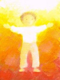 Prière de l'enfant, couverture de Panorama, 1986, Maïte Roche