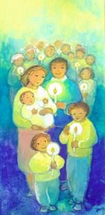 Peuple de Baptisés, fais rayonner la lumière du Christ, Signet- Maïte Roche