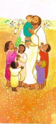 Jésus et les enfants, pâques, Signet - Maïte Roche