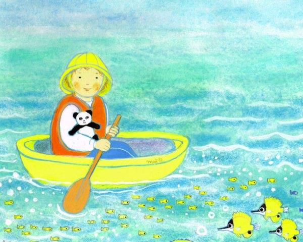 L'enfant dans sa barque, in Enfant de la création, Maïte Roche, Mame, 1982