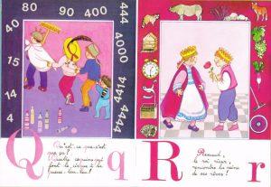 Lettres Q et R, Abécédaire, la ronde des mots, Maïte Roche, Mame, 1982