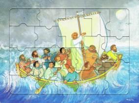 La tempête apaisée, puzzle 16 pièces, Maïte Roche, Mame