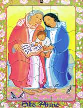 Sainte Anne, puzzle 16 pièces, Maïte Roche, Mame