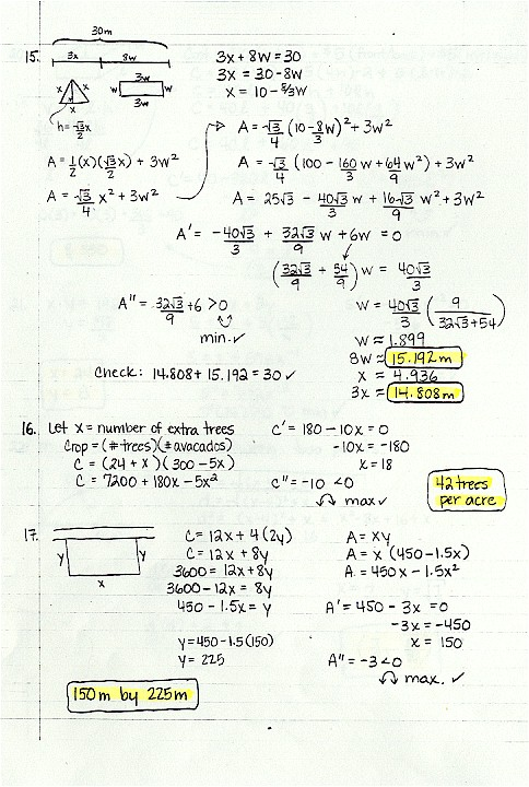 Curve Sketching and Extrema Practice Problems