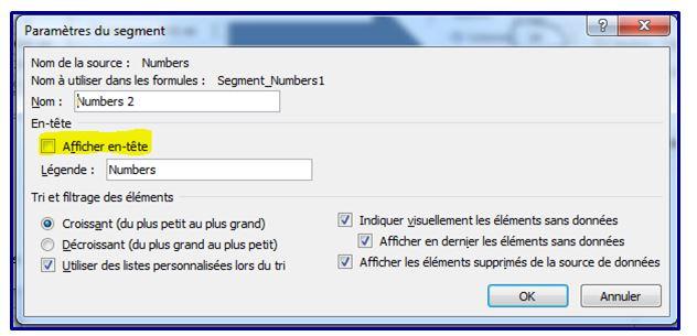Comment faire des segments sur Excel 2010 en moins de 5 min.