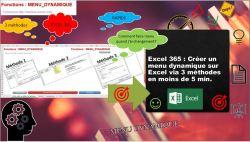 Excel 365 : Créer un menu dynamique sur Excel via 3 méthodes en moins de 5 min. EXCEL_365_EX_MENU_DYNAMIQUE_3_METHODES