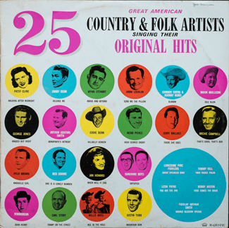 25 Country & Folk Artists - Front Cover