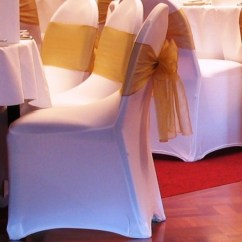 Wholesale Lycra Chair Covers Australia Round Table 8 Chairs Diameter Premium White Banquet Cover - Wedding Decorations | Supplies