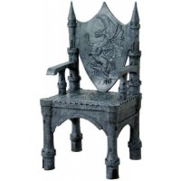 Dragon Throne Medieval Accent Chair - Gothic Home Decor