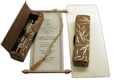 Scroll Invitations For Weddings