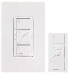 lutron p pkg1w wh caseta wireless 600 watt 150 watt multi location in wall dimmer with pico remote control kit [ 1200 x 1200 Pixel ]