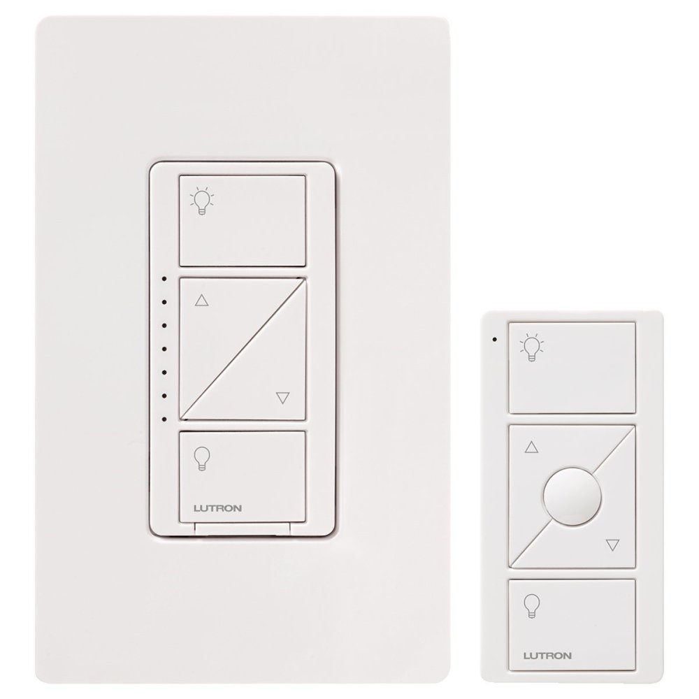 medium resolution of lutron p pkg1w wh caseta wireless 600 watt 150 watt multi location in wall dimmer with pico remote control kit