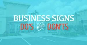BusinessSign DesignDos Donts