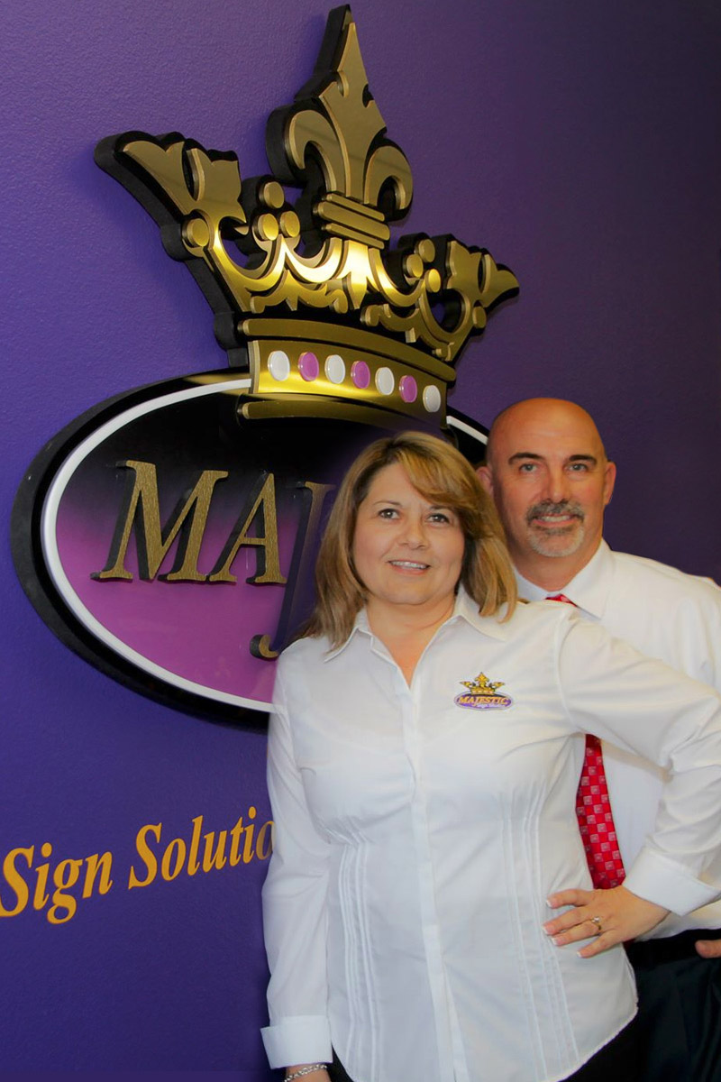 About Majestic Sign Studio | Gordy and Denise Wolfe - Owners/Operators
