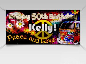 Majestic Sign Studio | Standard White Indoor/Outdoor Vinyl Birthday Banner