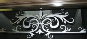 Majestic Sign Studio | Etched Glass Window Filigree