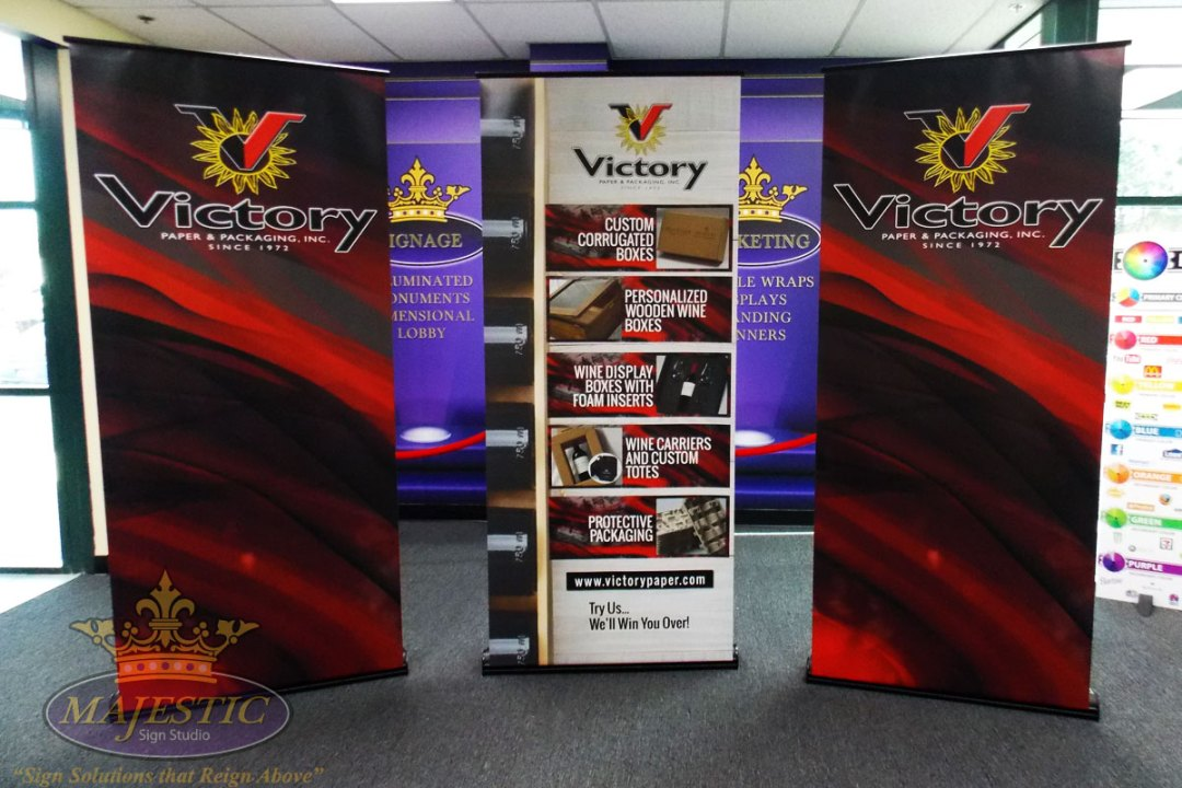 full size pop up trade show banners