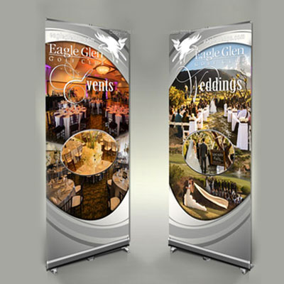 table top pop up trade show banner