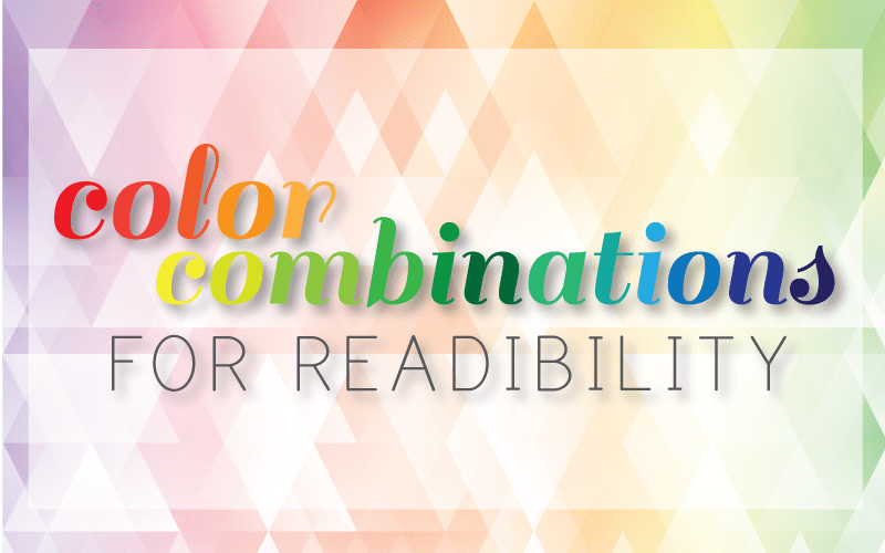 Best Color Combinations for Readability