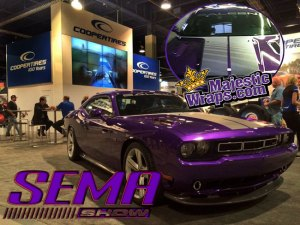 Sema_Saleen_Dodge-Challenger-570-purple-car wrap