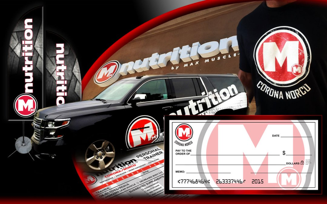 Max Muscle Nutrition Talks Brand Awareness with Exterior Signage, Vehicle Wraps & T-shirts