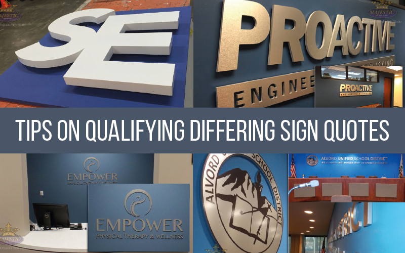 Comparing Sign Companies