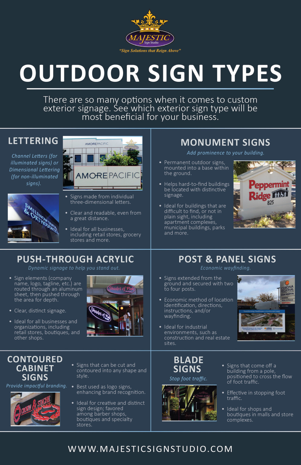 Types of outdoor signage for your business.