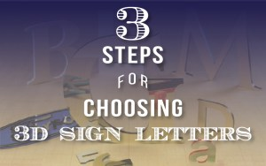 3D Sign Letters