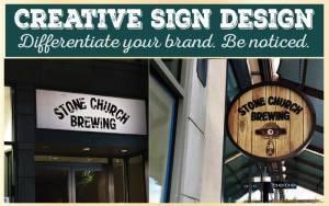 Creative Sign Design_Stone Church Brewing