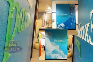 Lobby design ideas_company culture decals