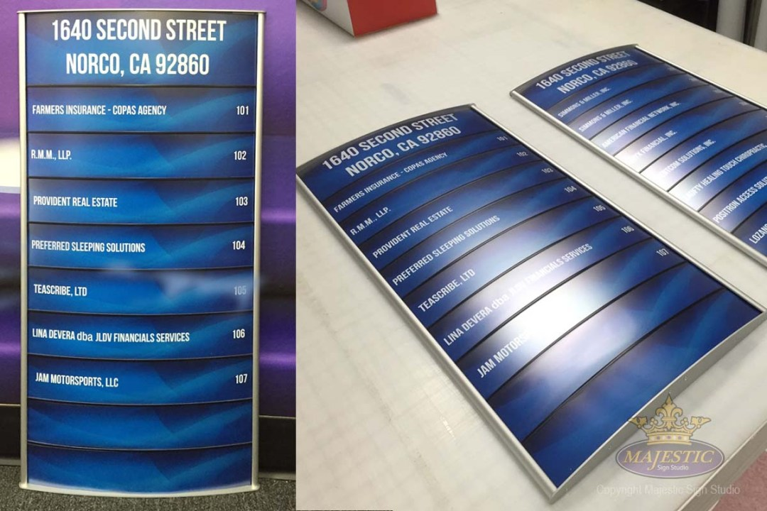 ADA Compliant Signs - Custom Office Directory Sign