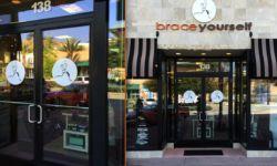 Letterfoam Shopping Mall Sign & Vinyl Door Decal Logos
