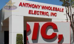 Building Sign with Foam Letters on Aluminum Face for Santa Ana Supply Store