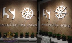 Laser cut acrylic dimensional letters corporate office
