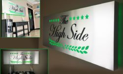 High Side Lobby Signs