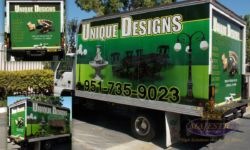 Custom Truck Trailer Wrap for Local Deliveries - Outdoor Furniture, Lighting, Fountains, Corona