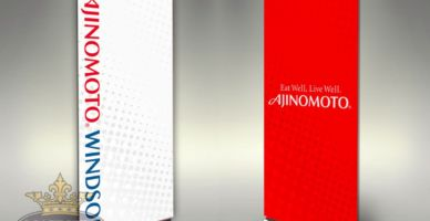 Trade Show Retractable Banners Ajinomoto.Windsor Dye-Sublimated
