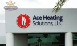 Business Sign - Foam Letters with Digital Print - Heating Company