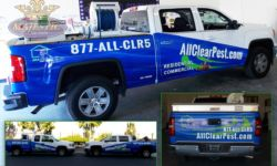 3/4 Truck Wraps - Pest Control Company, Riverside