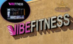 Fitness Studio Building Sign with Front Lit Channel Letters & Day/Night Vinyl