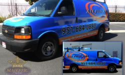 Full Vinyl Wrap for Van - HVAC Company, Riverside County