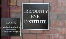 Cast Aluminum Plaque for Eye Care Company
